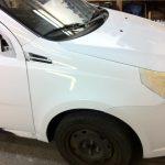 Chevy Aveo Glossy White Wrap