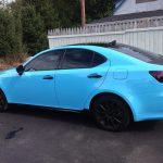 Gloss Sky Blue Lexus Side View